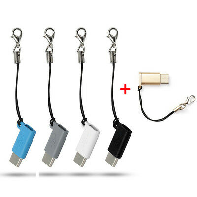 5Pcs Micro USB Female to USB 3.1 Type-C Male Sync Data Cable Converter Adapter