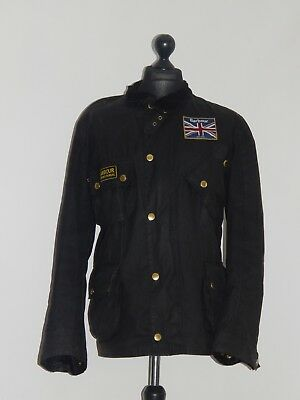 Barbour International Union Jack Men's Wax Jacket Size XL