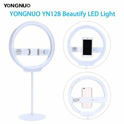 YONGNUO YN128 white Camera Photography LED Ring Light For iPhone Sumsang Phone