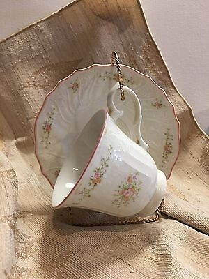 Vintage Teacup Saucer Royal Doulton Moselle Collection Biarritz English China