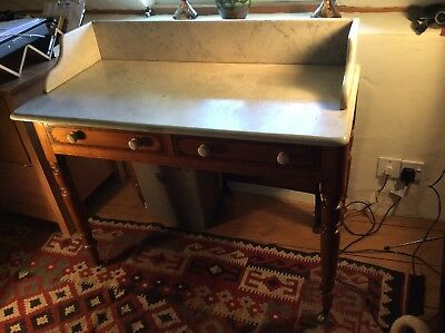 Victorian marble top Wash Stand with 2 drawers. Diamond registration mark 1862.