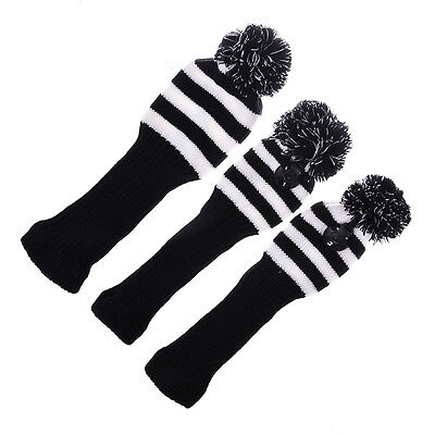 3x Golf Club Knitted Headcover Head Covers For Taylormade 1# 3# 5# Club Driver