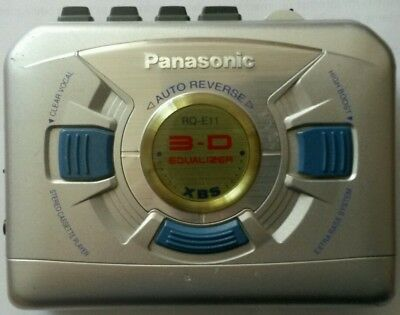 PANASONIC RQ-E11 Walkman Cassette Player silber