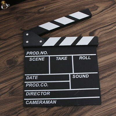 Film TV Show Cut Action Wooden Movie Clapboard Theater Party Prop Home Decor CN
