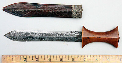 East African Dagger made from a File, with Sheath