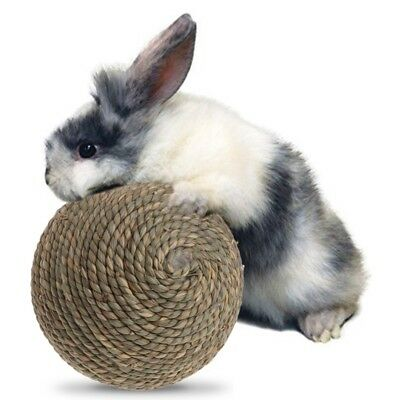 Pet Natural Grass Straw Ball Rabbit Parrot Guinea Hamster Teeth Cleaning Rat Toy