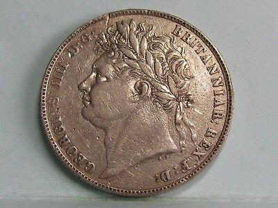 George Iv Silver Half-Crown Coin Dated 1820