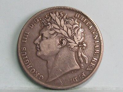 George Iv Silver Half-Crown Coin Dated 1823