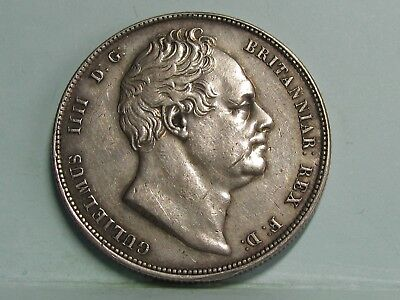 William Iv Silver Half-Crown Coin Dated 1836 **ef/unc **