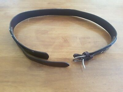 Ladies brown leather belt size medium