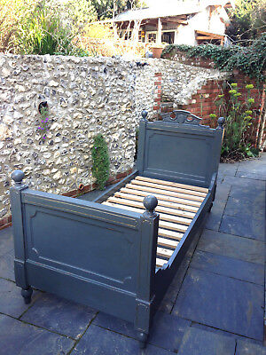 Antique French Walnut two single beds