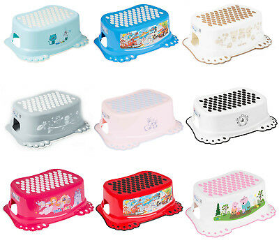 Baby Kids Step Stool Safe Non-Slip Toddlers Potty Toilet Training