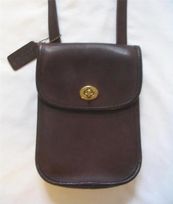 Vintage Coach ~ Brown Leather Messanger Cross Body Bag ~ Purse ~ Made In Usa