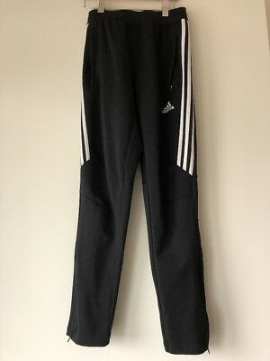 Adidas Unisex Kids Black with White Stripe Climacool Pants Size M