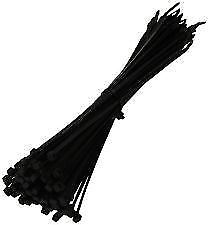 12 Cable Tie Black 300mm x 4.8mm Wraps Zip Thick Thin Narrow Fastener Car Garage