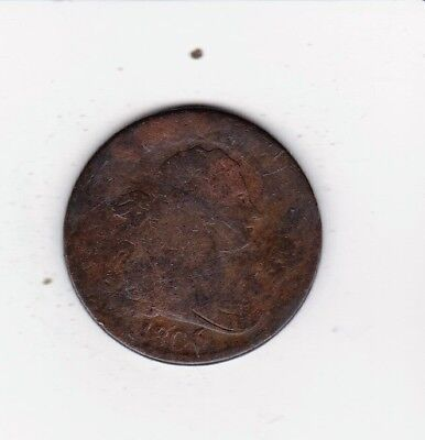 1806  Draped Bust Half Penny Solid Date Nice Color Free Shipping