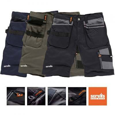 Scruffs Trade Work Shorts Black, Grey or Blue with Multiple Pockets Combat Cargo