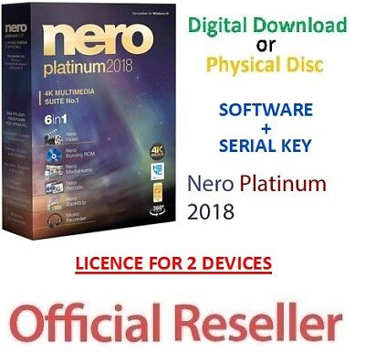 Nero Platinum 2018 Full Version + Serial Key