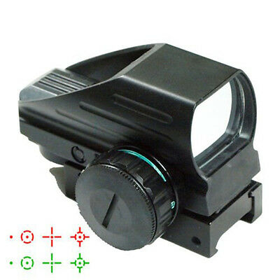Tactical Red Green Dot Holographic Sight 4 Reticle Reflex for Outdoor QU