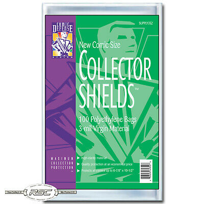 100 - Comic Defense System Current Collector Shields 3-Mil Polyethylene Bags