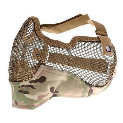 Outdoor Steel Mesh Half Face Mask / Mouth Guard CS Military Camoflage CP