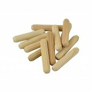 18 Wooden Dowel M8 x30mm Pin Hardwood Chamfered Fluted Woodwork Craft DIY Repair