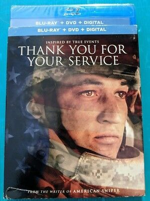 NEW Thank you for your service Blu-ray & DVD NO DIGITAL BLUERAY bluray movie