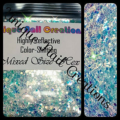 Highly Reflective MIXED SIZES HEXAGON-Nail Art•Face•Festival•USA💋