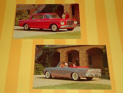 1962 Studebaker Postcards 5 Card Lot Free Shipping