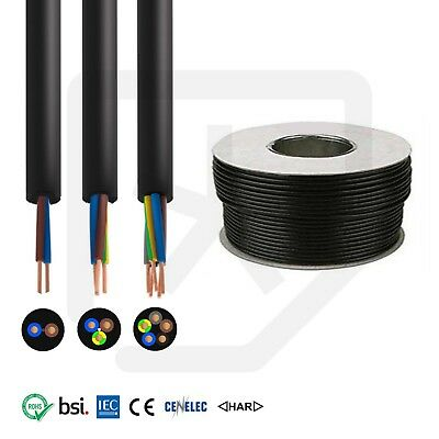 Rubber Cable 2 & 3 core 1.5, 2.5mm HO7RN-F Heavy Duty Camping Boat Exterior -