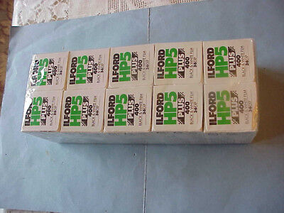 Ilford HP5 Plus - Black & white film 135 35 mm ISO 400 36 exposures...10 PACK