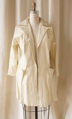 Bonnie Cashin for Sills and Co white leather coat
