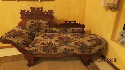 AMERICAN VICTORIAN EASTLAKE CHAISE LOUNGE 19TH Century ( 1800s )