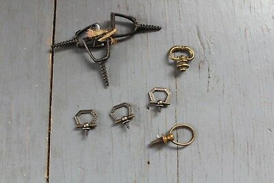 Mixed Lot 8 Antique Vintage Knob Furniture Dresser Drawer Pull Handle Hardware