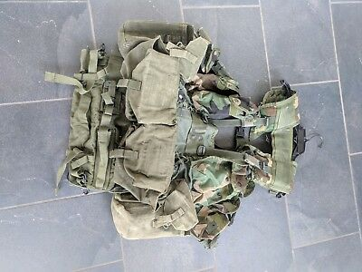 TACTICAL LOAD BEARING VEST Enhanced Woodland Camo LBV Army Issue ACU