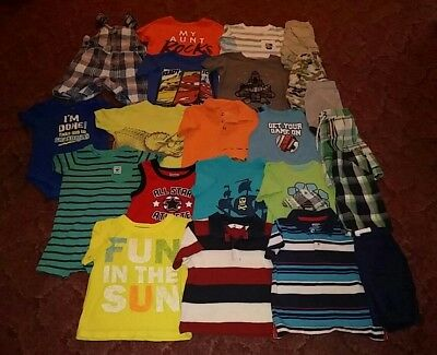 Great deal! 22pc boys 24mos-2t summer lot. Carters, Crazy 8, Jumping beans