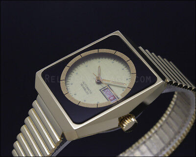 New Old Stock RARE THERMIDOR golden vintage automatic watch NOS ETA 2879 see!!
