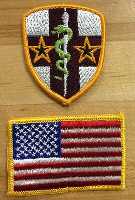 US Army Reserve Medical Command USA Flag Flagge Reforger Uniform patch Aufnäher