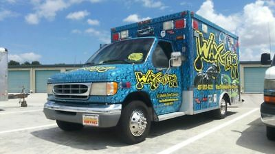 1997 Ford E-Series Van Wrap 1997 FORD DUALLY AMBULANCE MOBILE DETAILING RIG