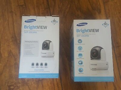 lot of 2 Samsung Wireless SEP-1003RW HD PTZ Video Baby Cameras, White.