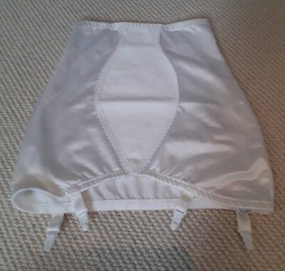 vintage roll on girdle white suspenders foundation sissy nylon burlesque