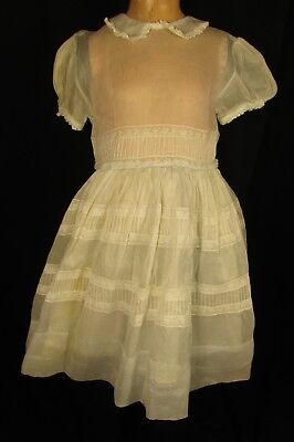 Girls Cotton Organdy Party Dress With Lace