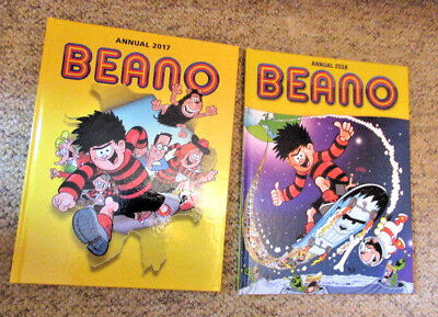 Beano Annual 2018 & Beano Annual 2017 Uk Comic