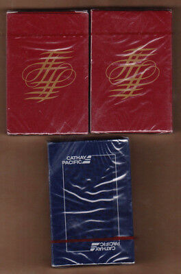 3 DECKS!!!  CATHAY PACIFIC Airways Airline Airplane Playing Cards All NEW Sealed