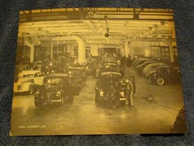 Vintage Jumbo Picture Unused  Postcard Ford Motor Company Assembly Line Cars
