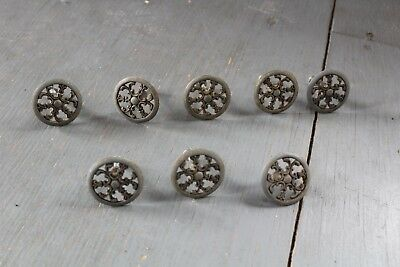 Set Of 8 Antique Vintage  Knob Furniture Dresser Drawer Pull Handle Hardware