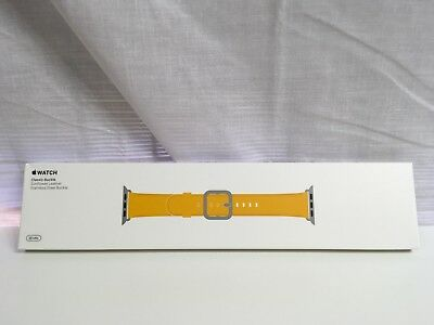 Genuine Apple Watch Leather Band w/ Classic Buckle 38mm -Sunflower MPWP2AM/A NEW