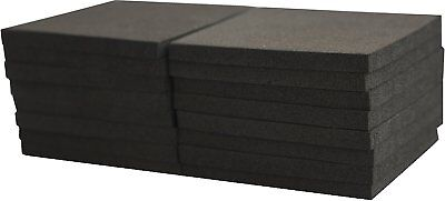 "XCEL Foam Rubber Pads Acoustic Damper Anti-Vibration Pads 16 pieces, 3""x3""x1/4"""