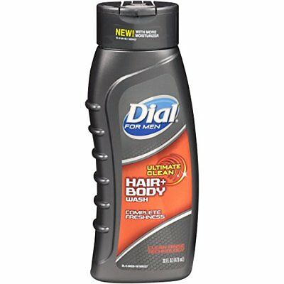 Dial for Men Ultimate Clean Hair + Body Wash, Complete Freshness, 16 fl oz