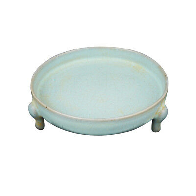 Exquisite Old Chinese Fine Craftwork RuKiln Celadon Porcelain Brush Washer AB132
